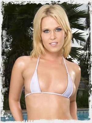 Sasha is in a hot little bikini, but not for long!