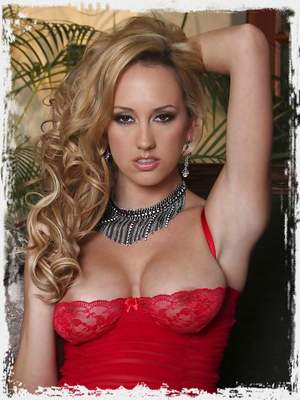 Brett Rossi takes her lingerie off and teases her sexy pussy